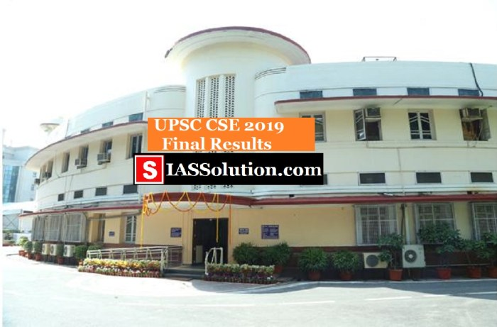 UPSC Final Results 2019