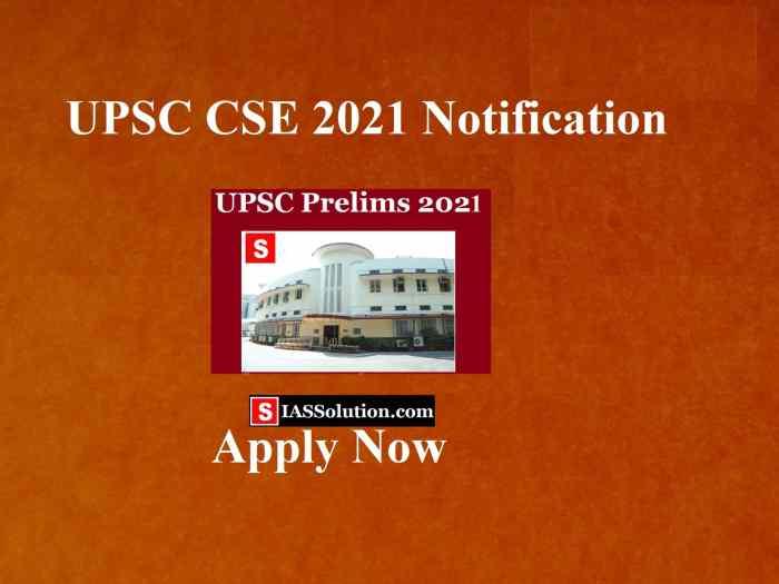 UPSC 2021 Notification