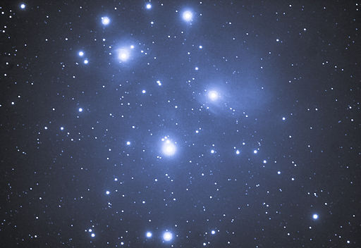 Astrophotograph of the Pleiades