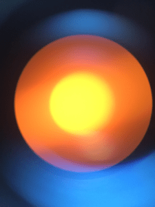 Initial View of Sun in Telescope