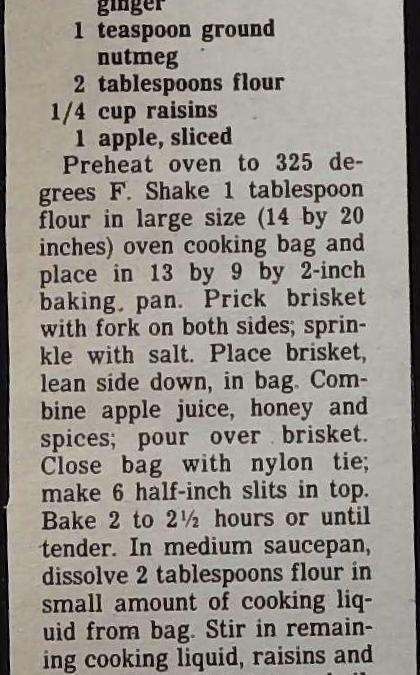 Apple Spiced Brisket