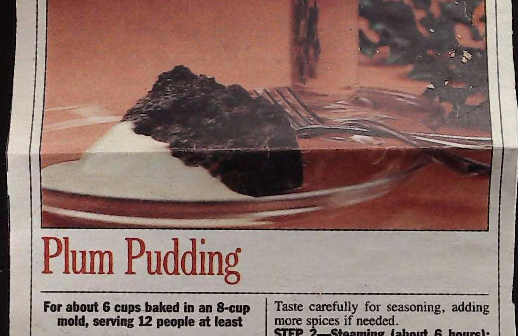 Plum Pudding With Pudding Sauce