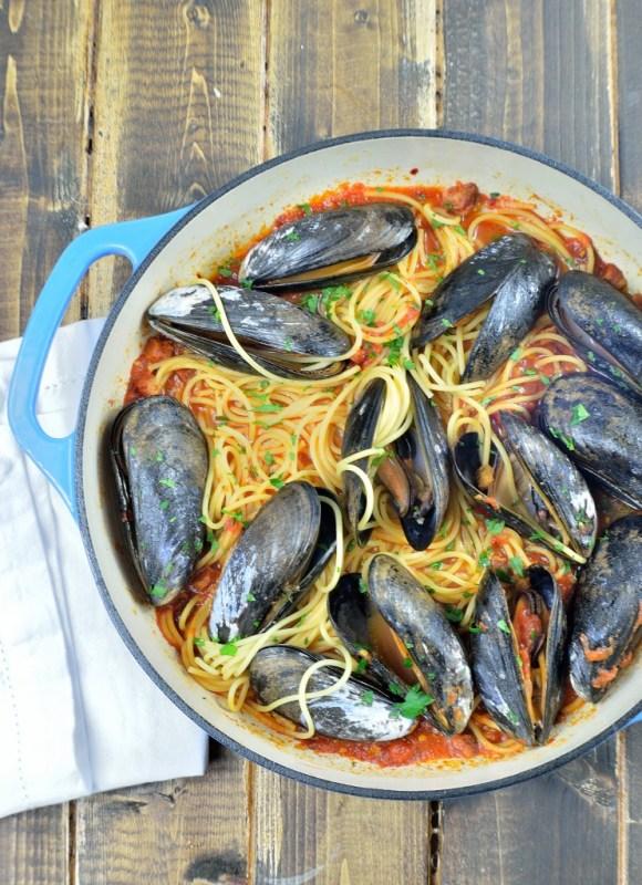 spaghetti mussels 9