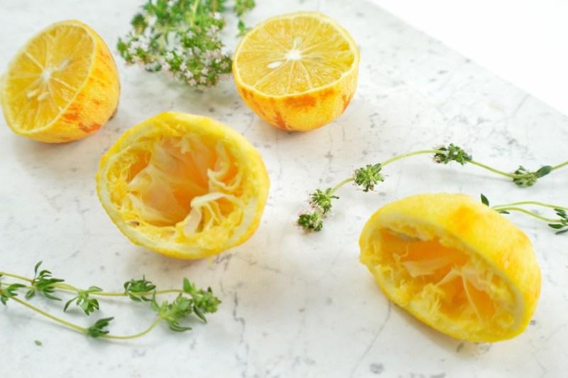 meyer lemon thyme ice cream 1