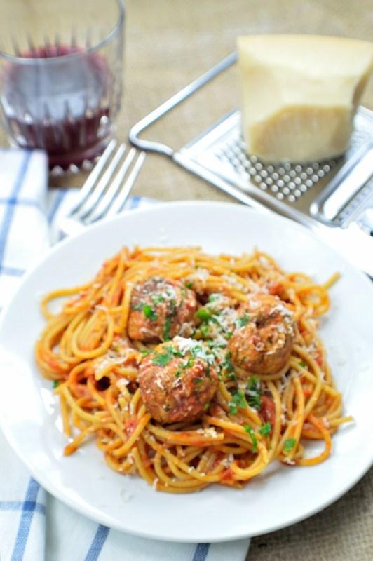 spaghetti meatballs 8
