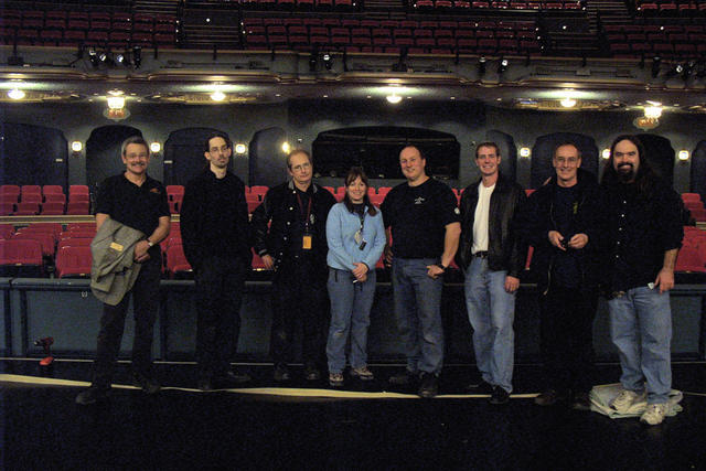 CapitolTheatre left to right - Jay Young, Conrad St Clair, John Sarris, Neen Rock, Chris Gauthier, Brian Weinkauf, Huck Johnston, Davin Pickell