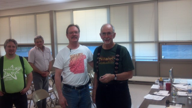 Dave Receives 40-Year Pin from President Larimore