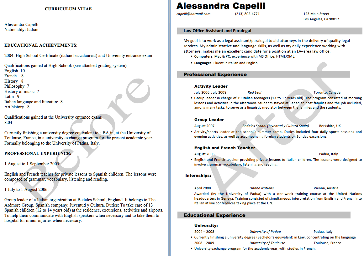 sample personal statement for resume template template