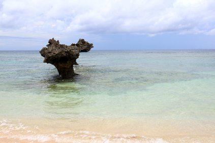 古宇利島には他にビーチがあるので、比較的静かな雰囲気