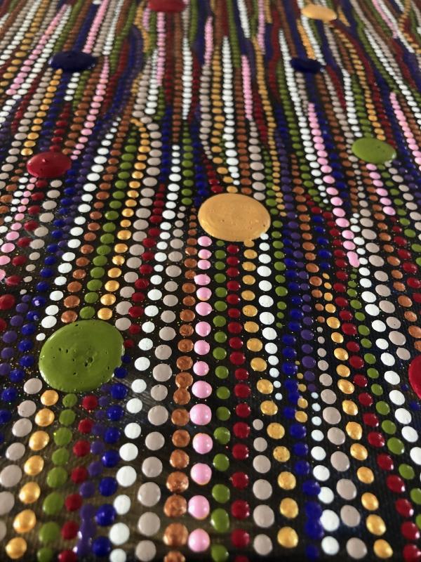 Winterkleuren dotpainting door Ibbel Dibbel