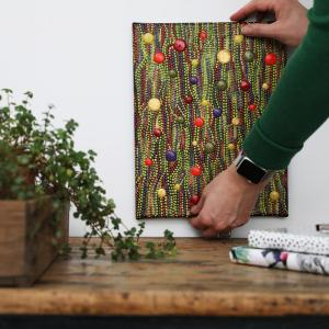 ophangen dot painting kerst lichtjes