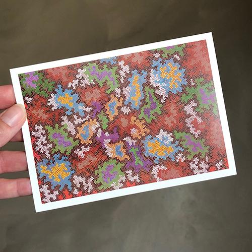 just a card kaart 2 dot painting Ibbel Dibbel