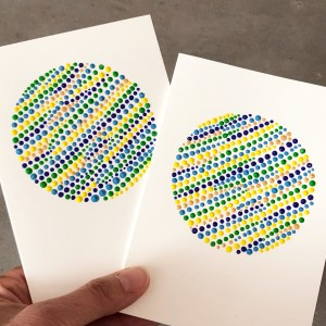 hand painted dot painting