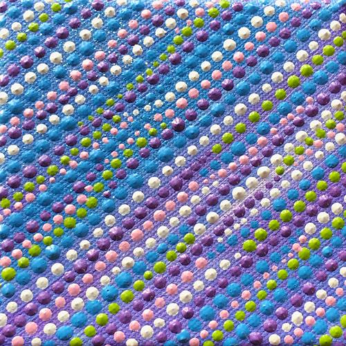 deel 1 van drieluik Summer Breeze - dot painting Ibbel Dibbel