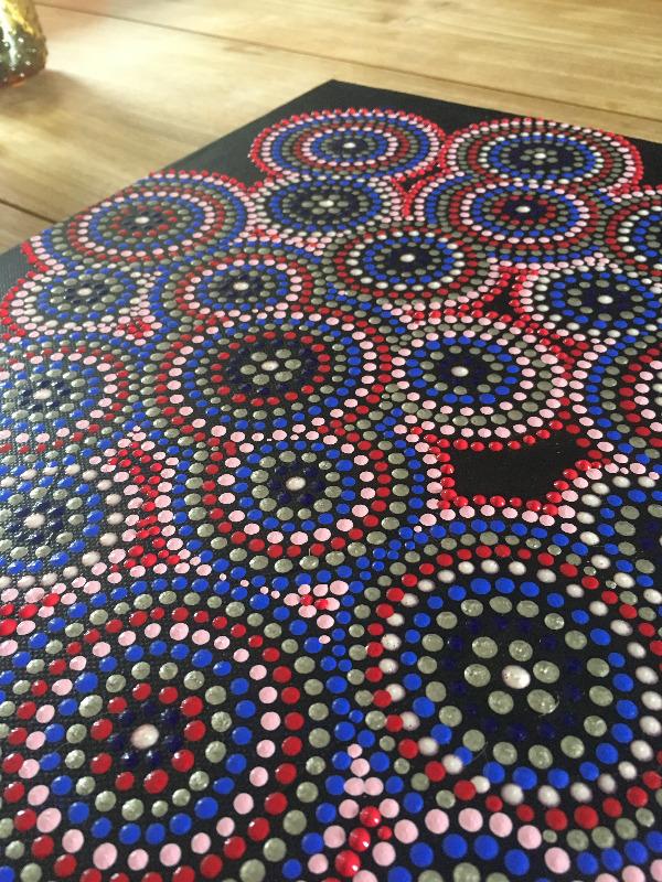 Pebbles • dot painting by Yolanda Bros