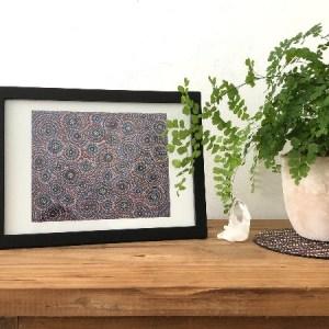 Print Pebbles • Kiezelstenen • dot painting van Ibbel Dibbel
