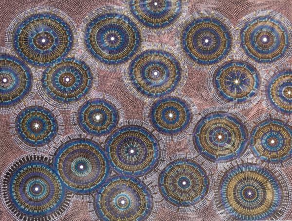 samen alleen cirkels dot painting by ibbeldibbel