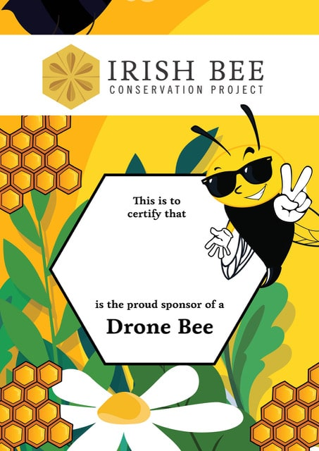 Adopt a Drone Bee certificate