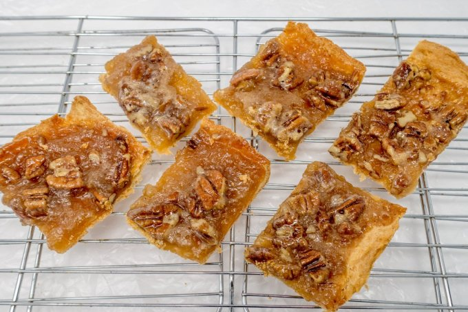 This easy pecan pie bars recipe is fast and simple