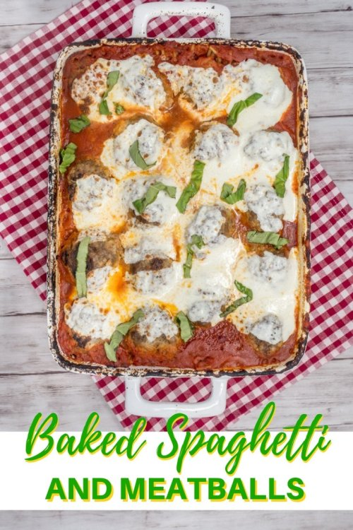 The best baked spaghetti and meatballs you'll ever have
