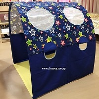 Children Bed Canopy | Blue Stars