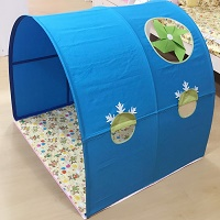 Children Bed Canopy | Windmill | Blue