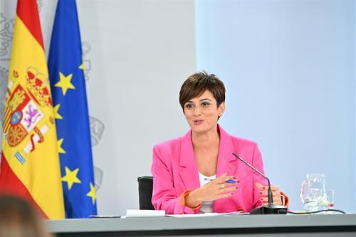 Isabel Rodríguez durante la rueda de prensa posterior al Consejo de Ministros