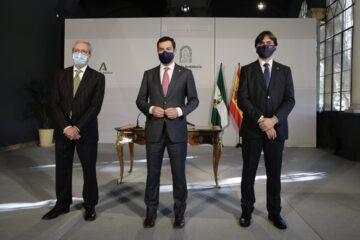 Rogelio Velasco,, Juan Manuel Moreno y Francisco Oliva