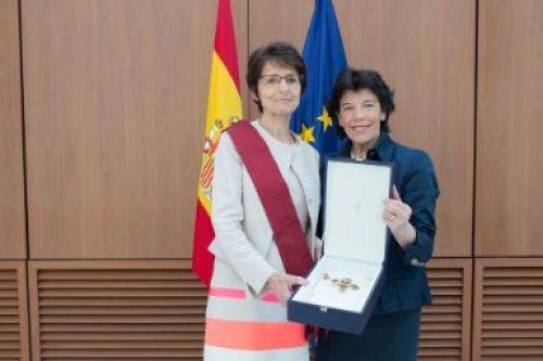 La ministra de Educación y FP en funciones, Isabel Celaá, junto a la comisaria Marianne Leonie Petrus Thyssen. Foto: Comisión Europea