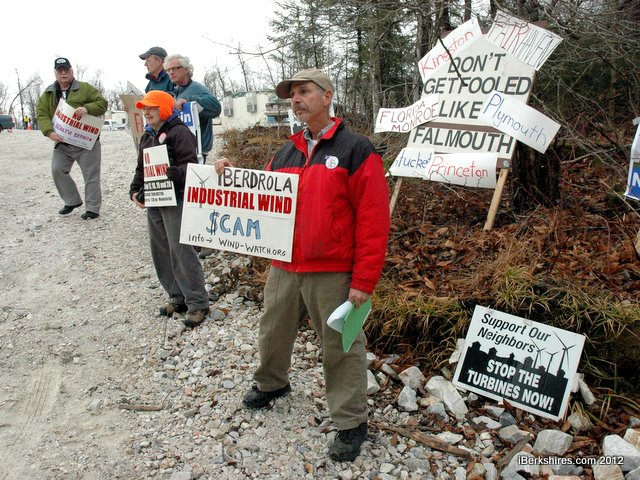 The celebration was protested activist groups opposing wind project. Michael Fairneny, of Florida, was joined with protestors from as far away as Cape Cod.