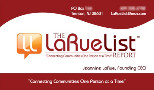 La Rue List Report logo design