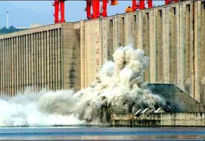 Explosion du barrage