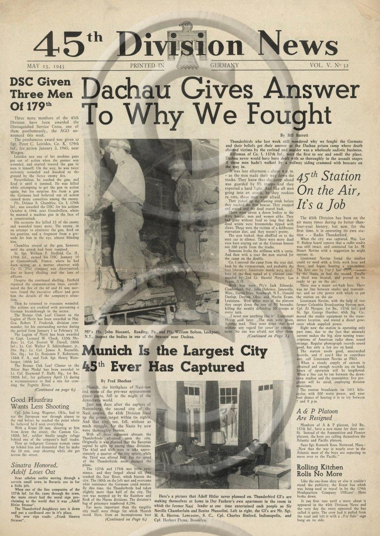 Dachau liberation editon 45th Division News