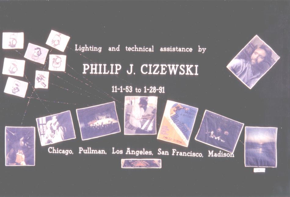 Philip J. Cizewskis NAMES Project AIDS memorial quilt