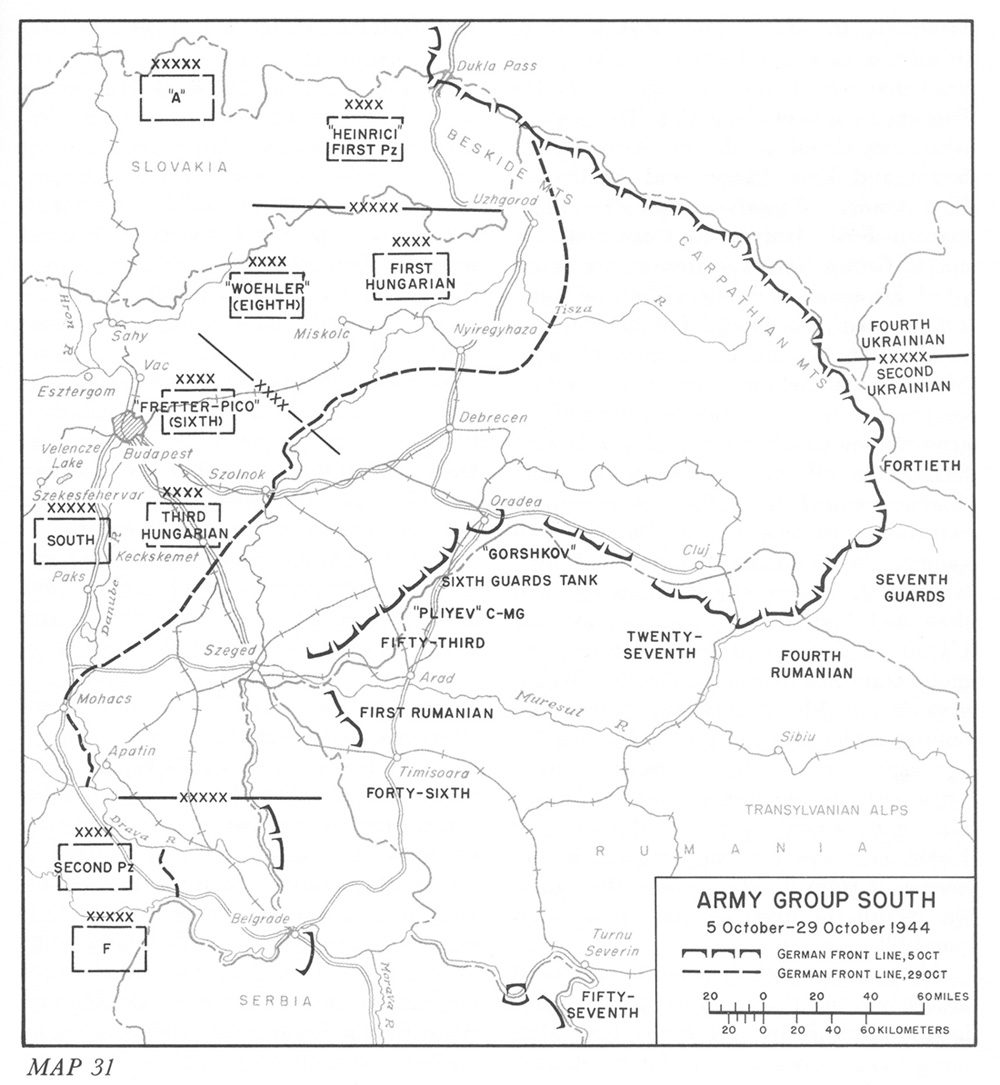 Army group south 5 29 october 1944