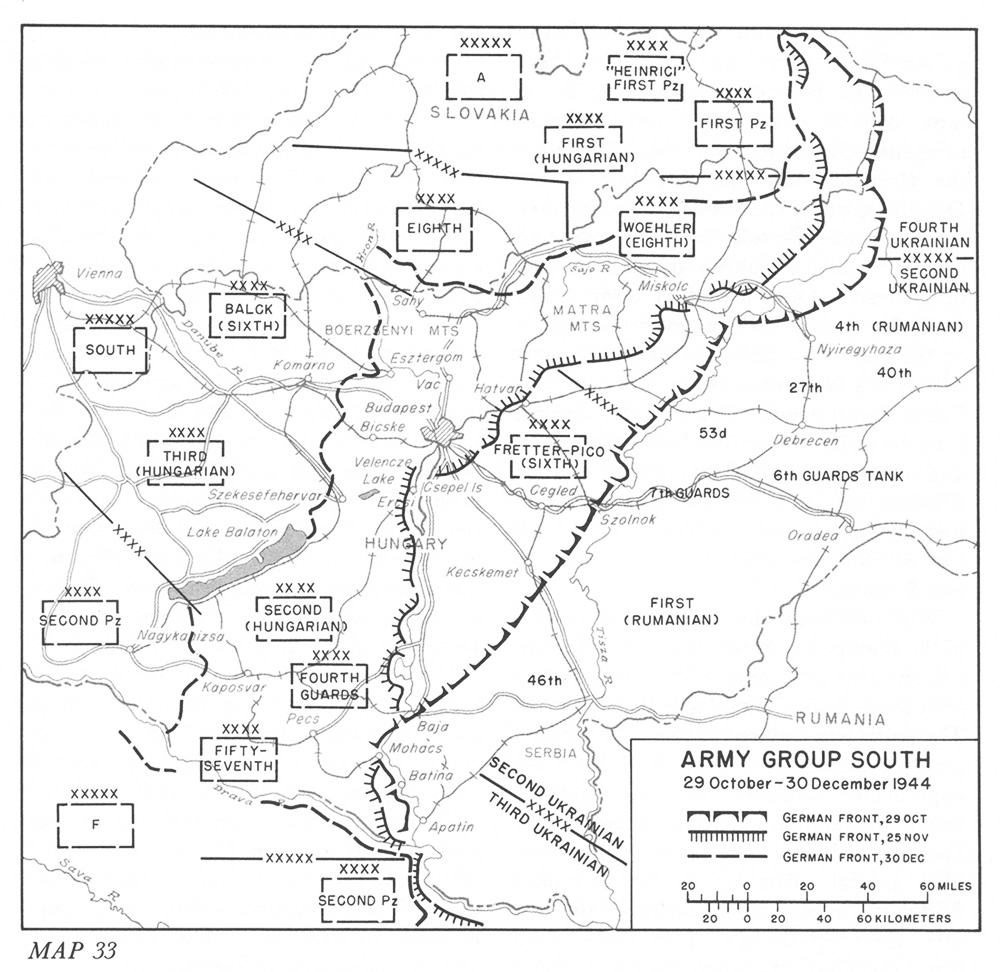 Army group south 29 october 30 december 1944