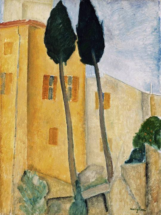 Modigliani Cypress houses
