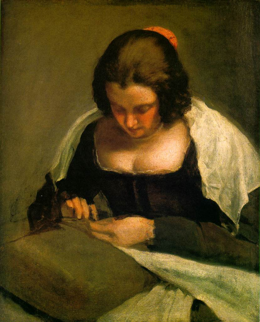 The needlewoman, by Velazquez