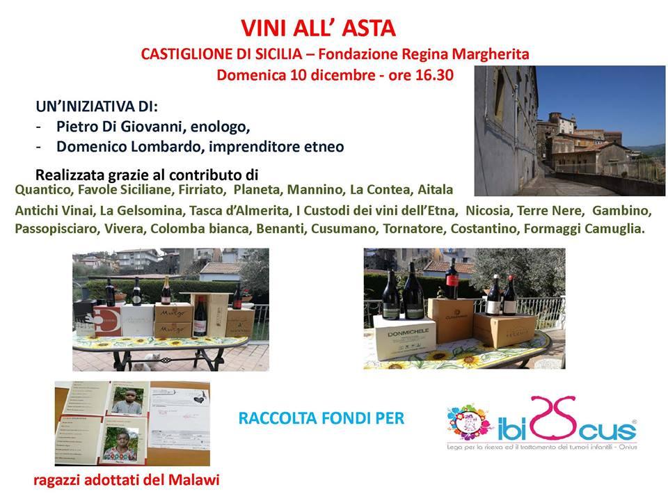 CASTIGLIONE DI SICILIA – VINI ALL'ASTA
