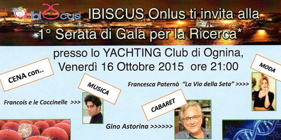 Serata di beneficenza  allo Yachting di Catania