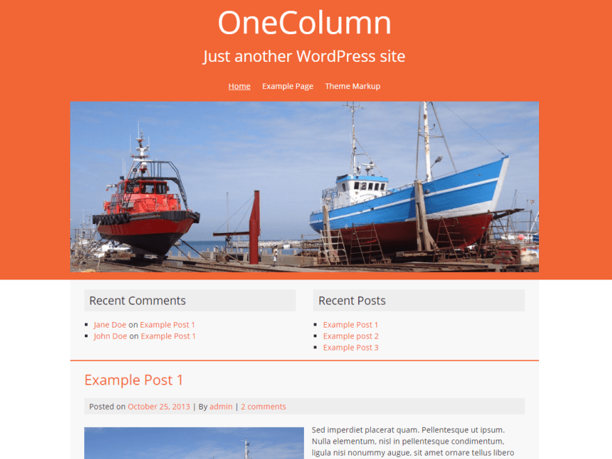 Download One Column FREE WordPress Theme 2