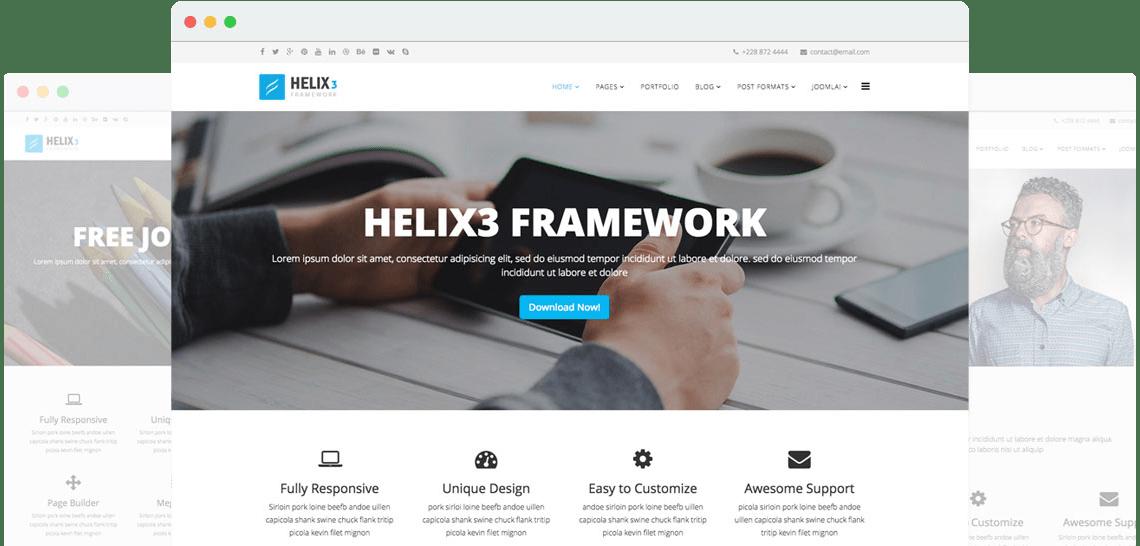 Helix3 – Template Framework for Joomla
