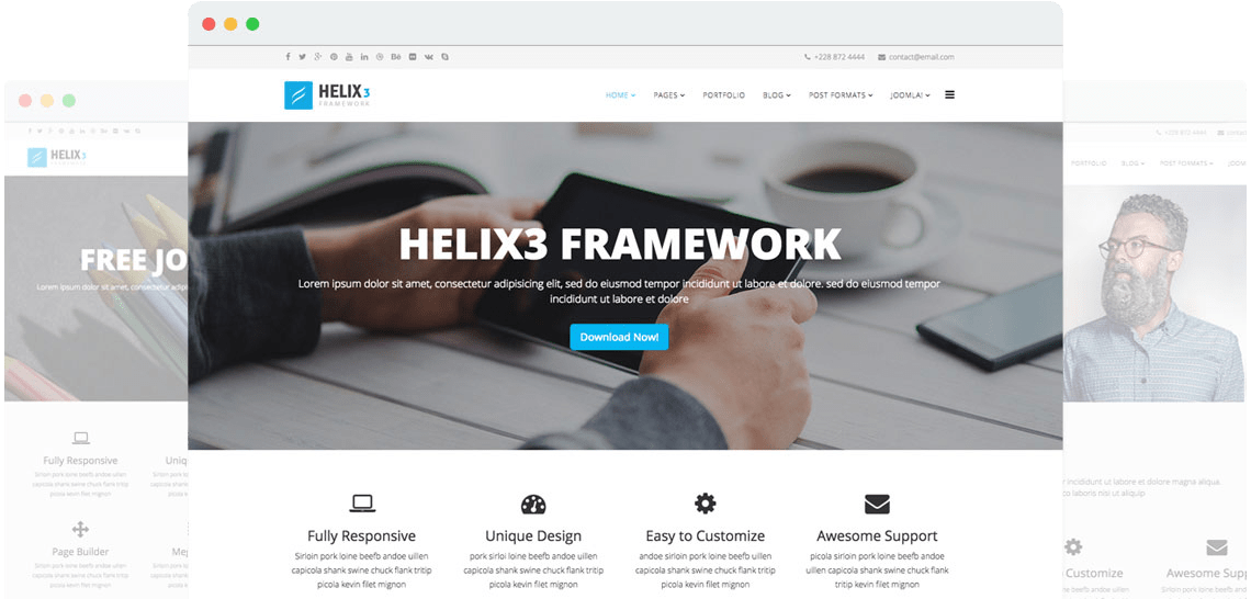 Helix3 - Template Framework for Joomla 8