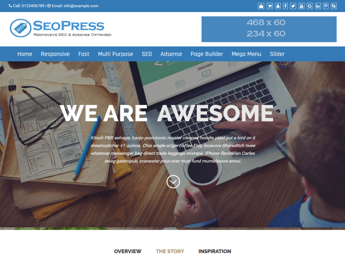 SEOPress - Fully SEO friendly WordPres Theme 1