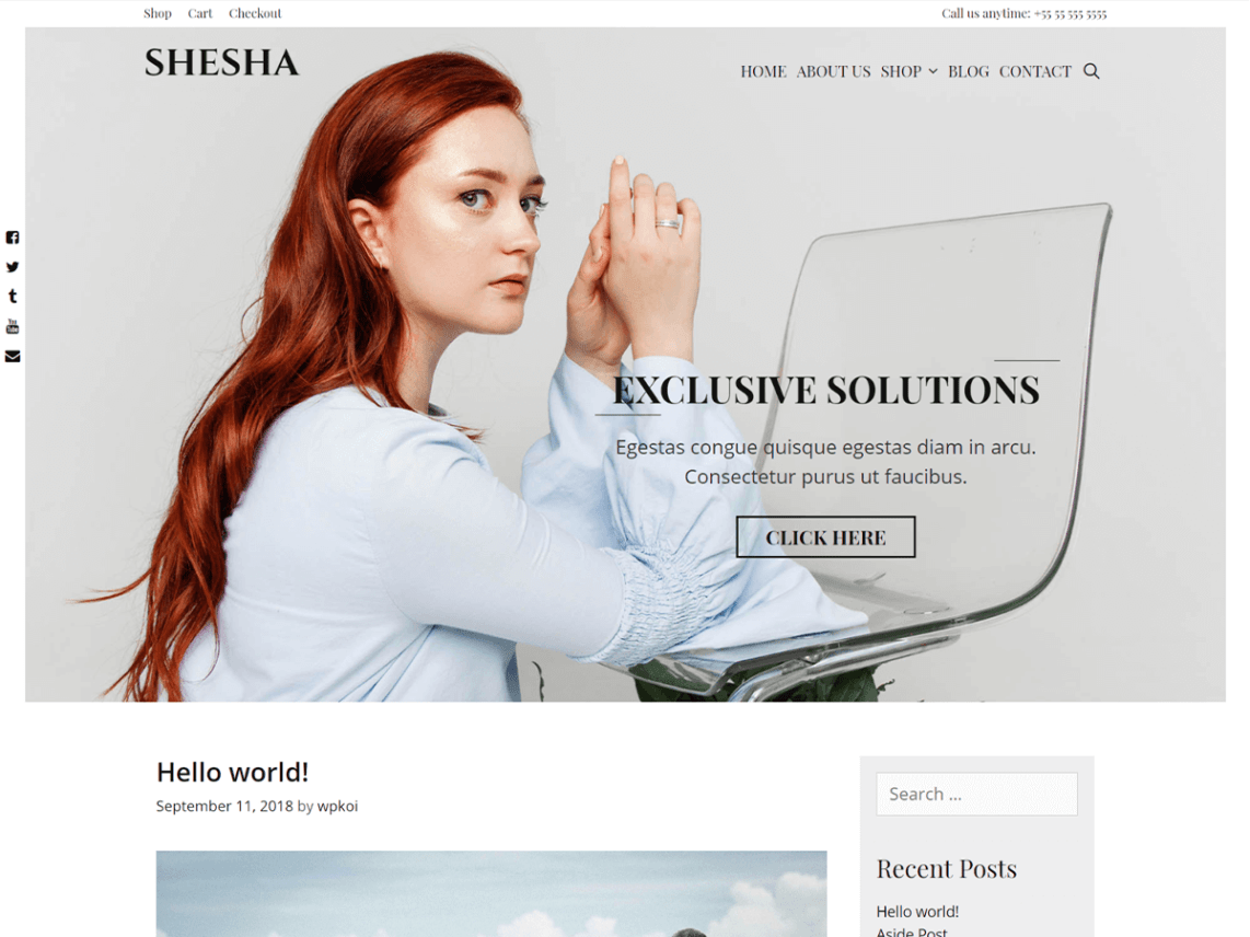 Shesha – Free WordPress Theme