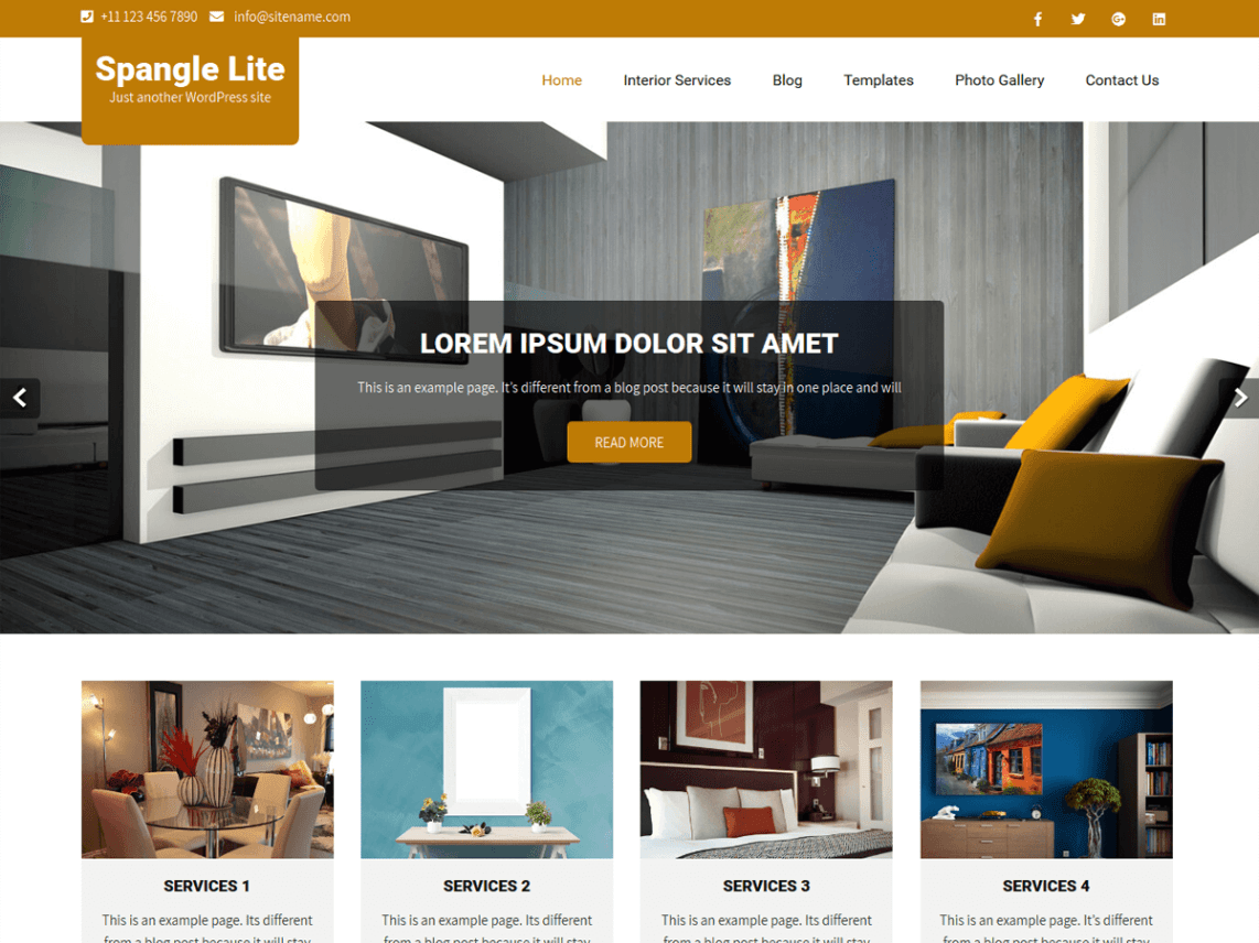 Spangle Lite - Interior Design WordPress Theme 1