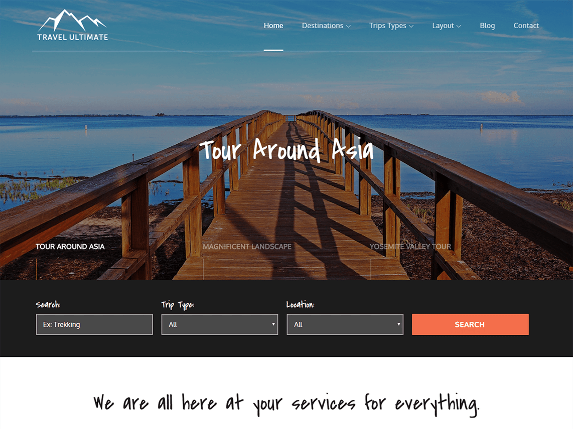 Travel Ultimate - highly responsive WordPress theme 1