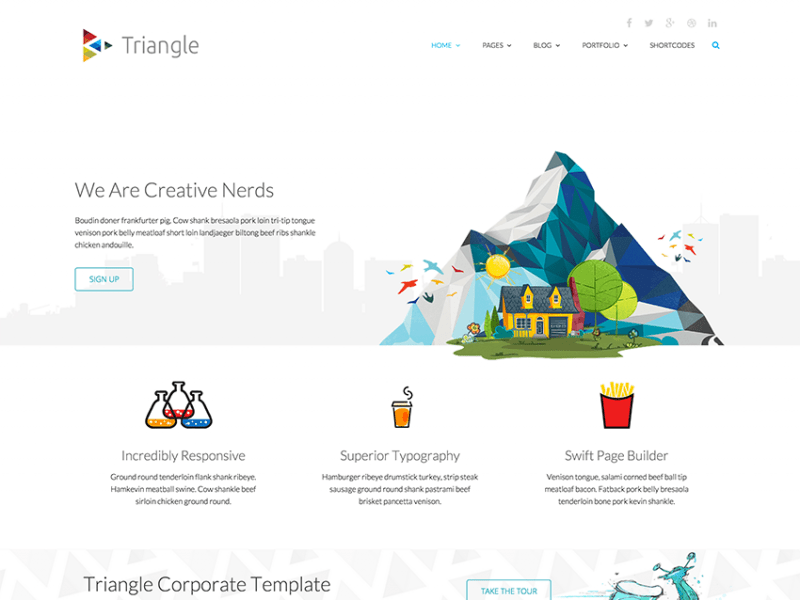 Triangle - Free Responsive Creative Template 3