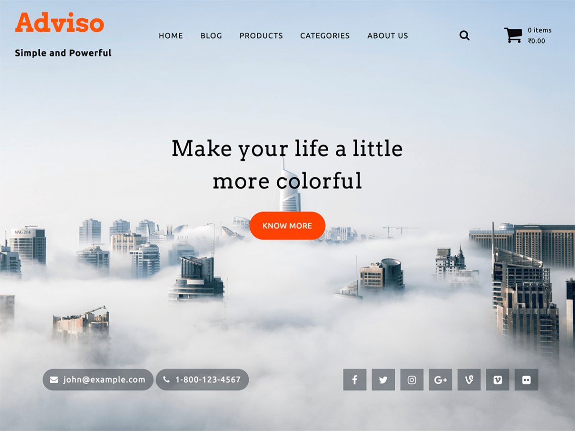 Adviso - Beautiful Material WordPress Theme 2