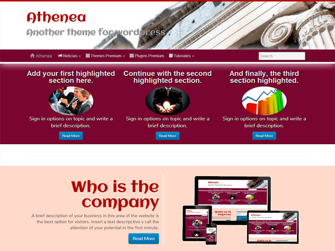 Athenea - WordPress Theme for Business 3